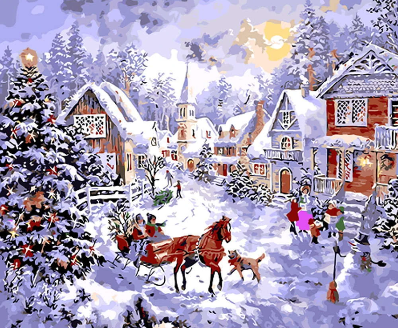Christmas Diy Paint By Numbers Kits Uk VM90597
