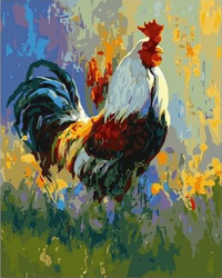 Cock Diy Paint By Numbers Kits UK VM95384
