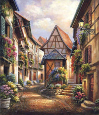 Landscape Town Street Diy Paint By Numbers Uk VM53658