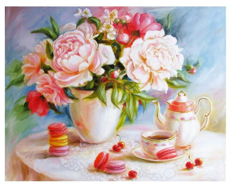 Flower Diy Paint By Numbers Kits Uk PBN90060