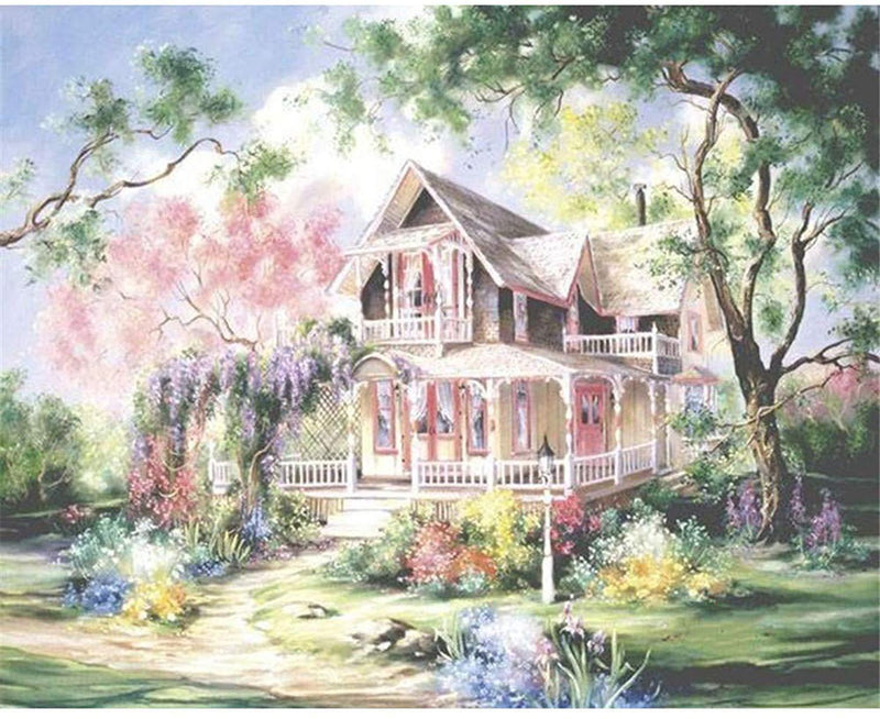 Landscape Cottage Diy Paint By Numbers Kits Uk PBN90258