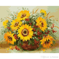 Flower In Basket Diy Paint By Numbers Uk PBN90322