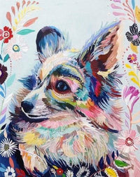 Animal Dog Diy Paint By Numbers Uk PBN90461