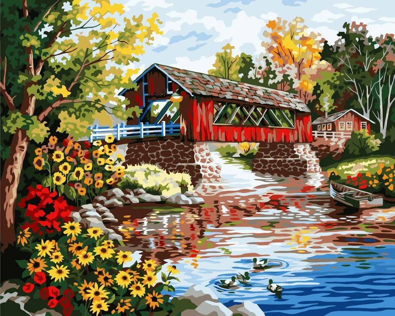 Village Scenery Diy Paint By Numbers Kits UK PBN94109
