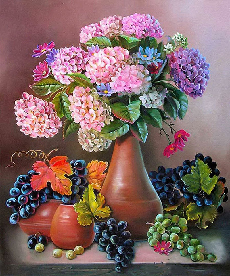 Flower Fruit Diy Paint By Numbers Kits UK PBN96038