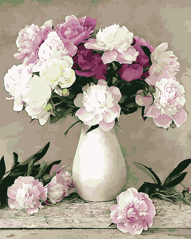 Flower Diy Paint By Numbers Kits UK VM96096