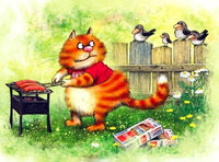 Lovely Cat Diy Paint By Numbers Kits UK PBN97884