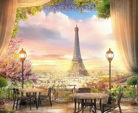 Landscape Eiffel Tower Diy Paint By Numbers Kits Uk ZXQ3451