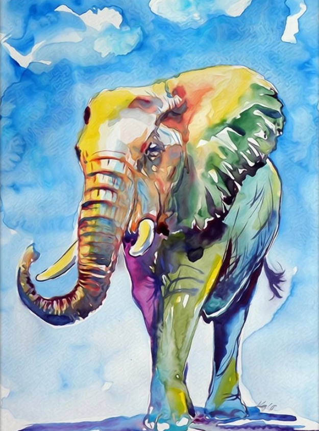 Animal Elephant Paint By Numbers Kits Uk VM90984