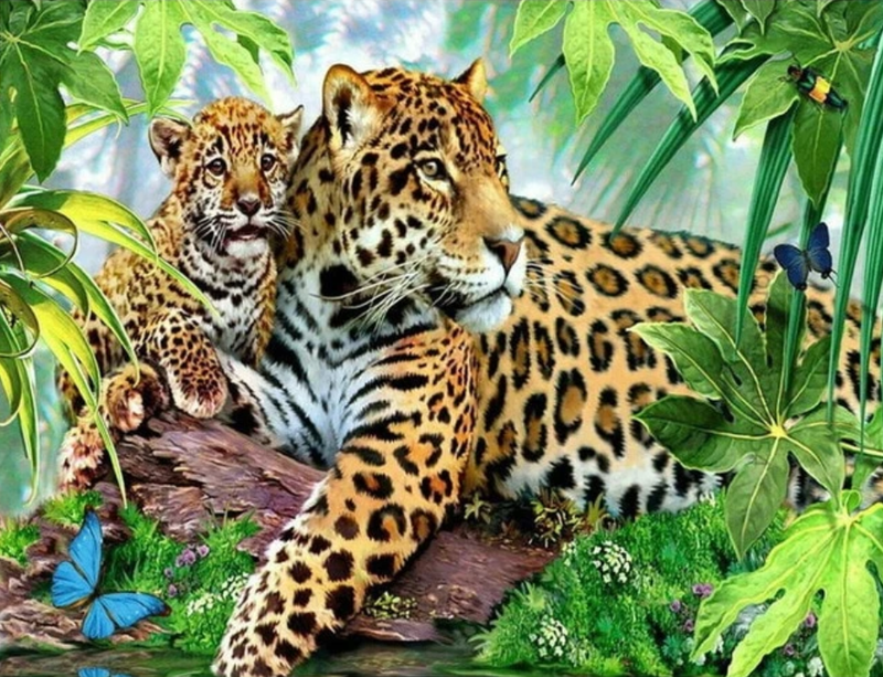 Leopard Diy Paint By Numbers Kits Uk VM90290