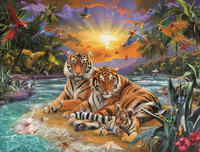Animal Tiger Paint By Numbers Kits Uk VM90974