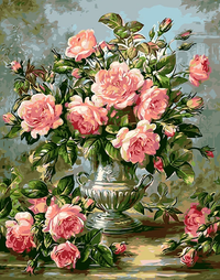 Pink Peony Diy Paint By Numbers Kits Uk PBN59022