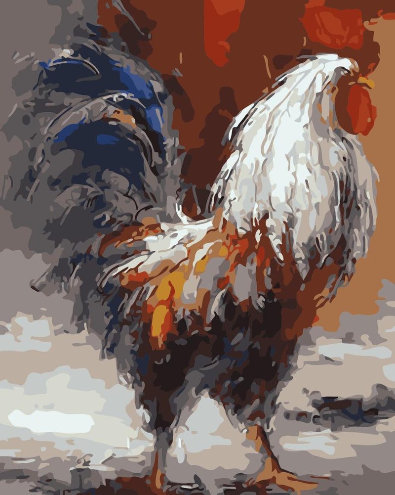 Cock Paint By Numbers Kits UK WM-1081