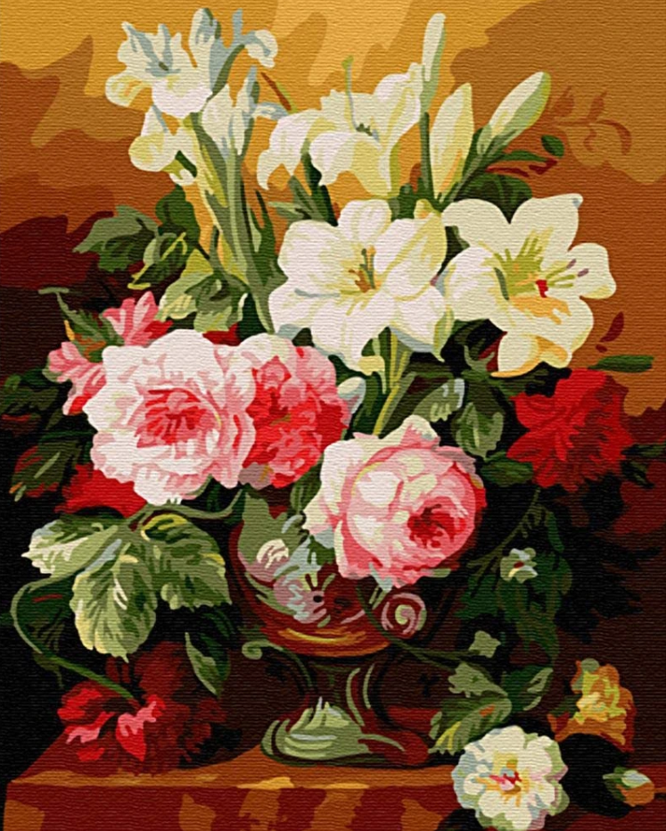 Flower Diy Paint By Numbers Kits Uk PBN91795