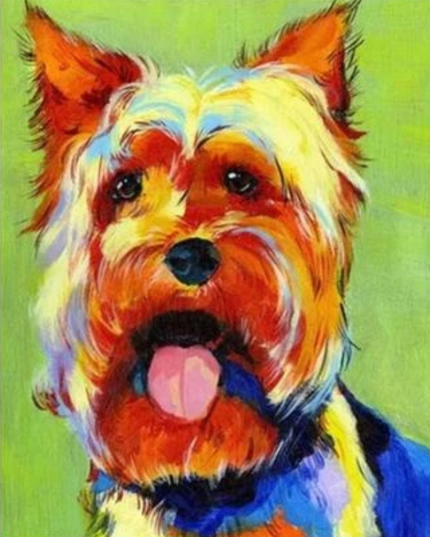 Dog Diy Paint By Numbers Kits UK VM57811