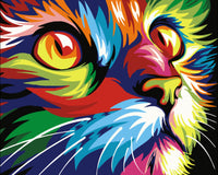Pet Colorful Cat Diy Paint By Numbers Kits Uk VM00102
