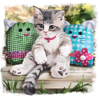 Pet Cat Paint By Numbers Kits Uk PBN90663