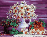 Flower In Bottle Paint By Numbers Kits Uk PBN90694