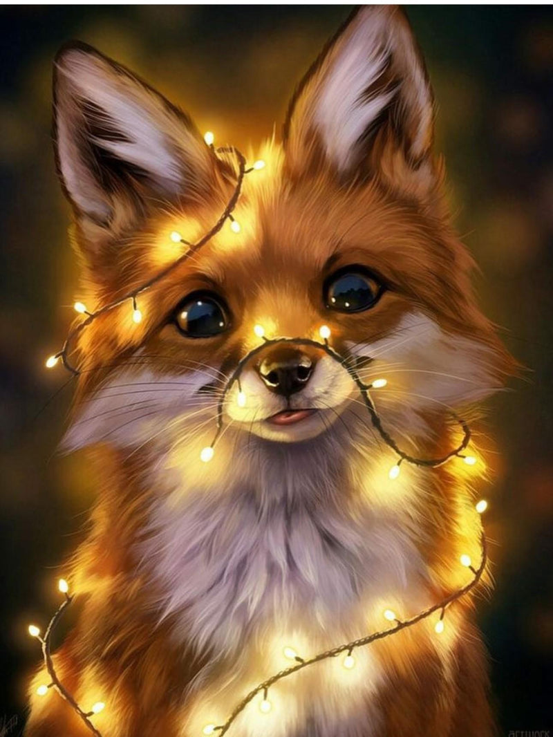 Animal Little Fox Diy Paint By Numbers Kits Uk VM91634