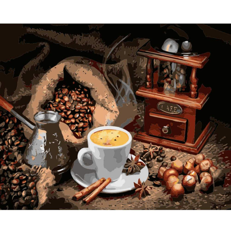 Coffee Diy Paint By Numbers Kits UK PBN97601
