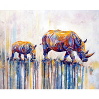 Rhinoceros Diy Paint By Numbers Kits Uk VM95116