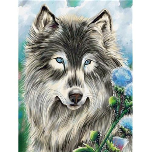 Animal Wolf Diy Paint By Numbers Kits Uk VM91741