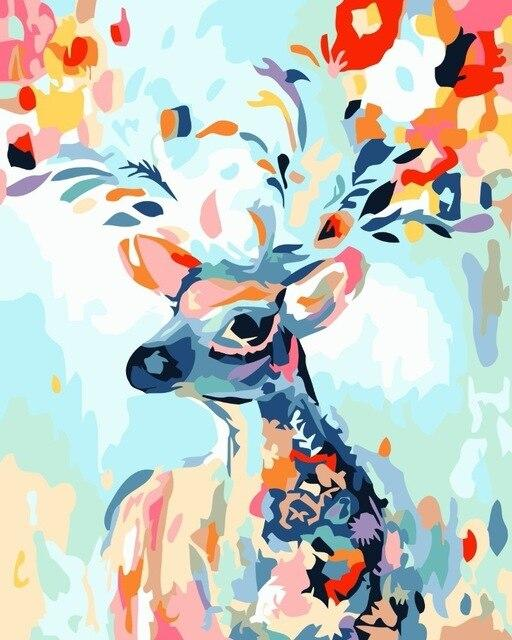 Deer Diy Paint By Numbers Kits Uk WM-1654