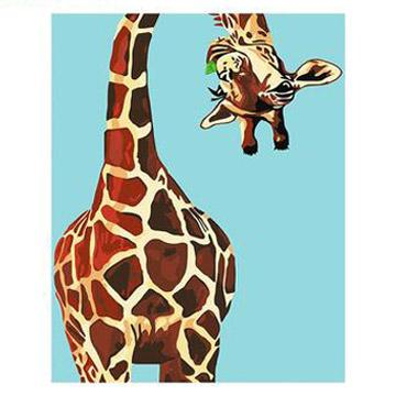 Animal Cartoon Style Giraffe Diy Paint By Numbers Kits Uk PBN00094