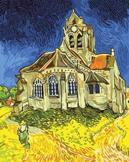 Van Gogh The Church Diy Paint By Numbers Kits Uk PBN93128