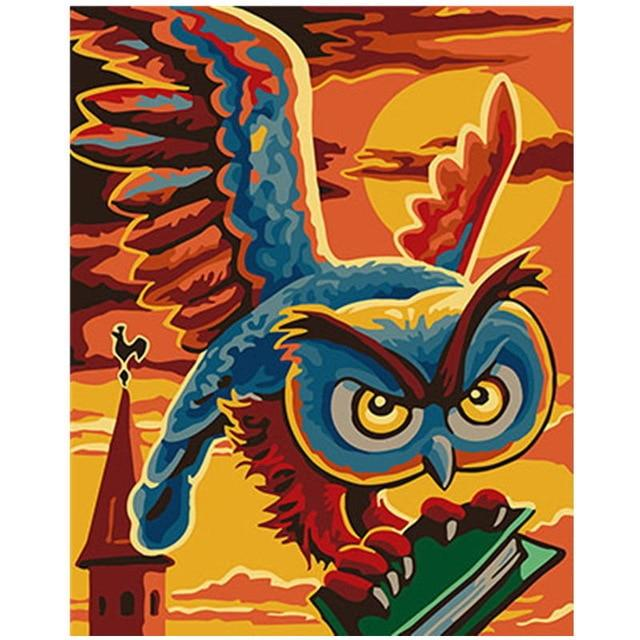 Colorful Owl Diy Paint By Numbers Kits Uk PBN91192
