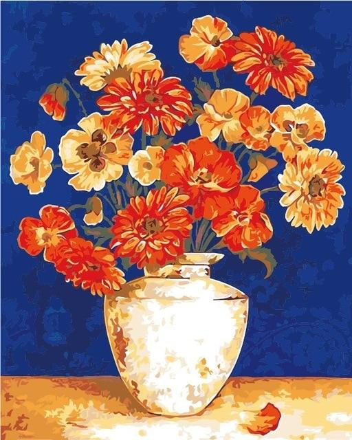 Flower In Bottle Diy Paint By Numbers Kits Uk PBN90102