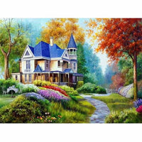 Landscape Village Diy Paint By Numbers Kits Uk PBN91132