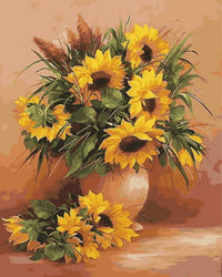 Sunflower Diy Paint By Numbers Kits UK VM96092