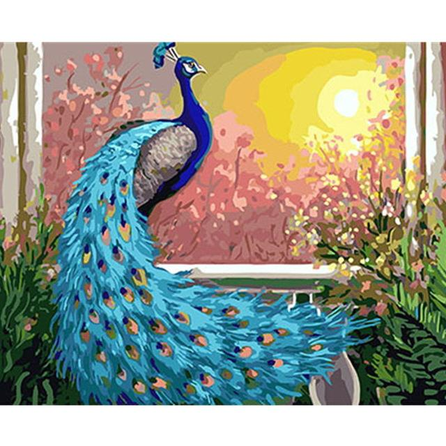 Peacock Diy Paint By Numbers Kits UK PBN97286