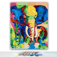 Colored Animal Diy Paint By Numbers Kits Uk VM95389