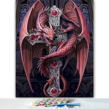 Dragon Diy Paint By Numbers Kits Uk VM95321