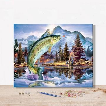 Fish Diy Paint By Numbers Kits UK PBN94062