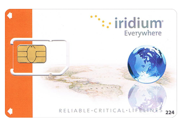 Iridium SIM Card with Airtime - 75 minutes - 1 month validity