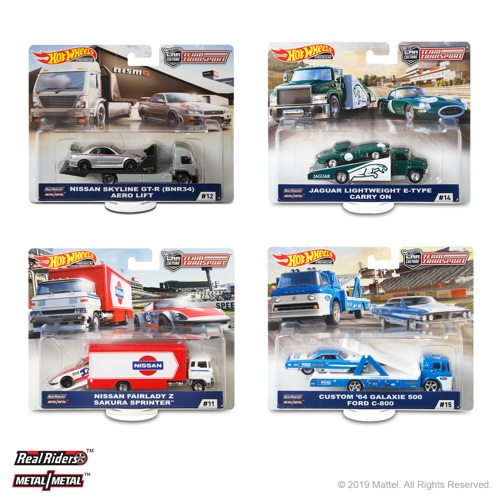 2019 Hot Wheels Team Transport F (Case-pack of 4)
