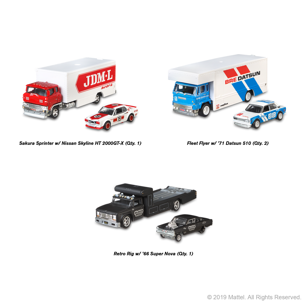 2019 Hot Wheels Team Transport C (Case-pack of 4)