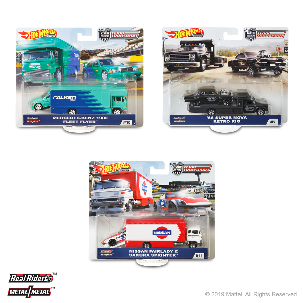 2019 Hot Wheels Team Transport D (Case-pack of 4)