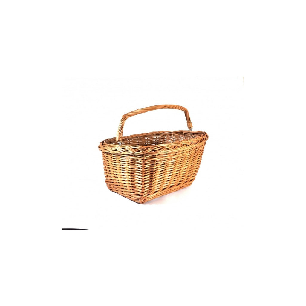 Bike Belle rectangular wicker basket