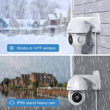 Load image into Gallery viewer, Security Camera Outdoor, Goowls 1080P Pan/Tilt 2.4G WiFi Home Smart Security Surveillance IP Camera Wired with Waterproof Night Vision 2-Way Audio Motion Detection Cloud Camera Works with Alexa