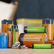 Load image into Gallery viewer, AmazonBasics 4 Pack AA High-Performance Alkaline Batteries, 10-Year Shelf Life, Easy to Open Value Pack