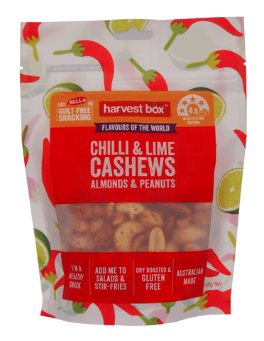 HARVEST BOX FLAVOURS OF THE WORLD - CHILLI & LIME (8 x 140g)