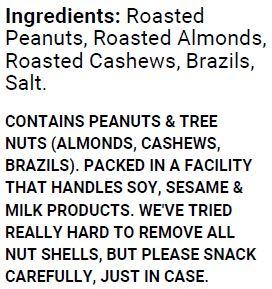 Lightly Salted Mixed Nuts (500g)