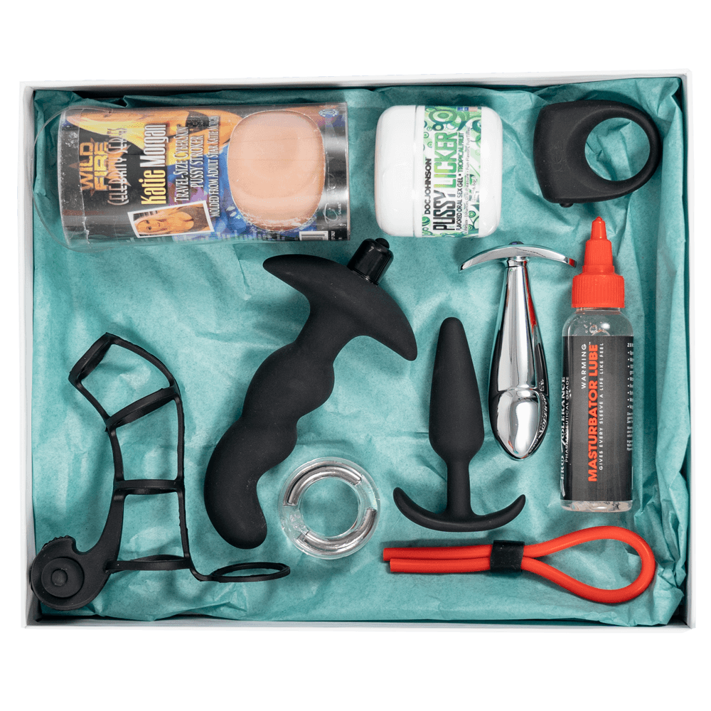 Male sex toy subscription box