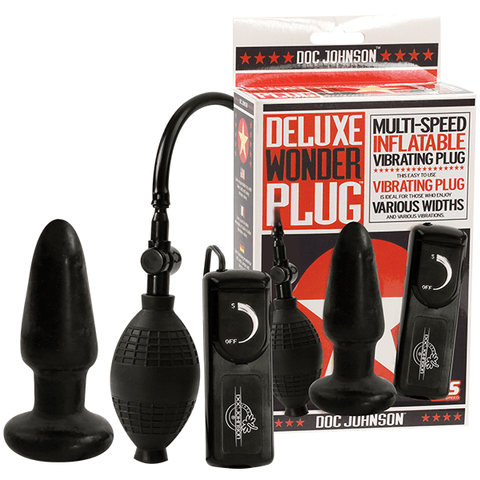 Doc Johnson Deluxe Wonder Vibrating Inflatable Butt Plug