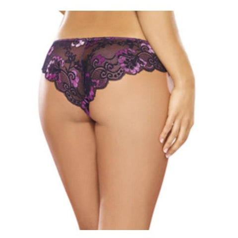 Cheeky Panty Medium Iris/ Black