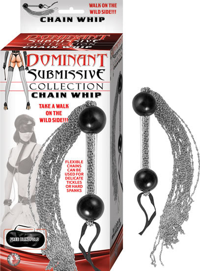 Dominant Submissive Collection Flexible Waterproof 16 inches Chain Whip